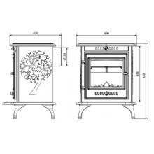 Чугунена печка на дърва Kaw-Met Р10 10 kW