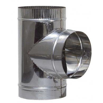 Разпределител Т от неръждаема стомана /инокс/ за димоотвеждане