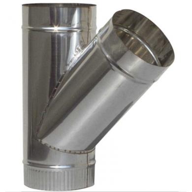 Разпределител У от неръждаема стомана /инокс/ за димоотвеждане