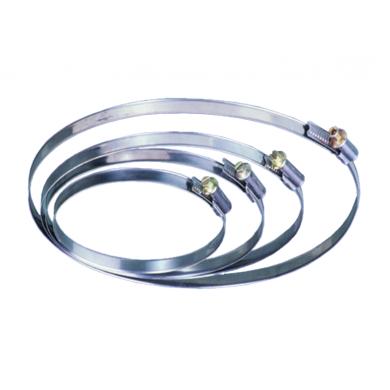 Пристягащи скоби за димоотводни тръби и гъвкави въздуховоди