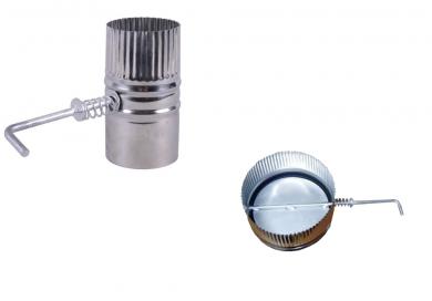 Димоотводна ръчно регулираща клапа от неръждаема стомана за камини и печки