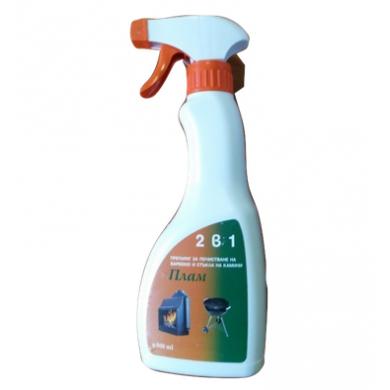 Плам 2 в 1 почистващ препарат за стъкла на камини и печки