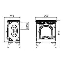 Чугунена печка на дърва Kaw-Met Р6 6 kW