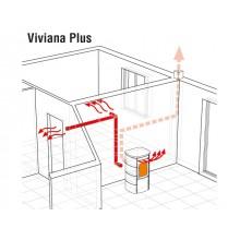 Италианска пелетна печка с вграден вентиалтор-въздушна риза Viviana Plus 10.3 kW /295 м³/