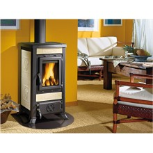 FULVIA - Wood burning stove with majolica or natural stone covering made by La Nordica Italy
