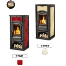 FIORELLA - Wood burning stove with wood box made by La Nordica Italy
