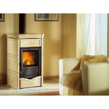 NICOLETTA - Wood burning stove with majolica covering made by La Nordica Italy