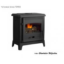 Френска печка на дърва от чугун без водна риза Temeo 10 kW