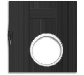 Врата с отвор за пелетна горелка