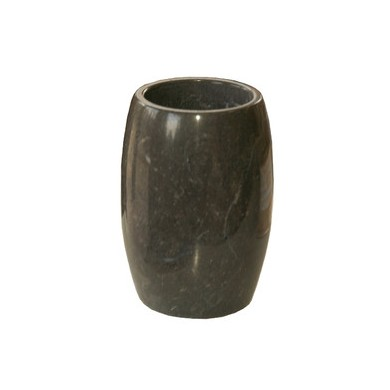 Ръчно изработена черена мраморна чаша за баня Арман