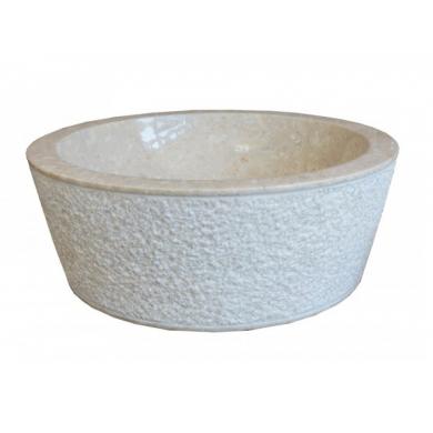 Мивка от бял гравиран мрамор Коно