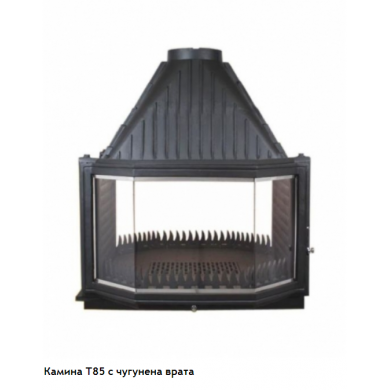 T 85 горивна камера на дърва с две лица