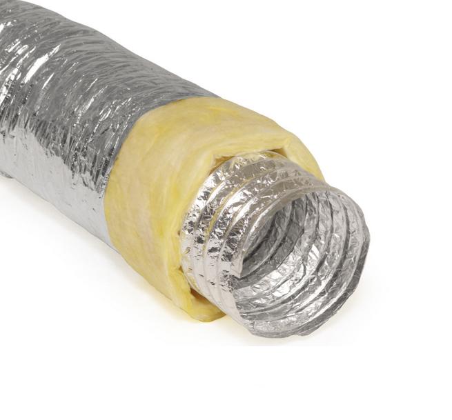 Гъвкав въздуховод с изолация за изграждане на камина с въздушна риза, топловод с изолация.