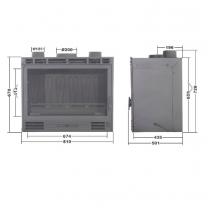 CHEMINEES DIFFUSION B13-2 горивна камера за вграждане 13 kW