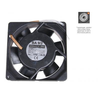 Високо-температурен вентилатор серия ВА 9 х 2 /с макс. дебит 50 м³/