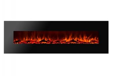 Стенна електрическа камина Masomi Madrid Black 72 inches 1600 W