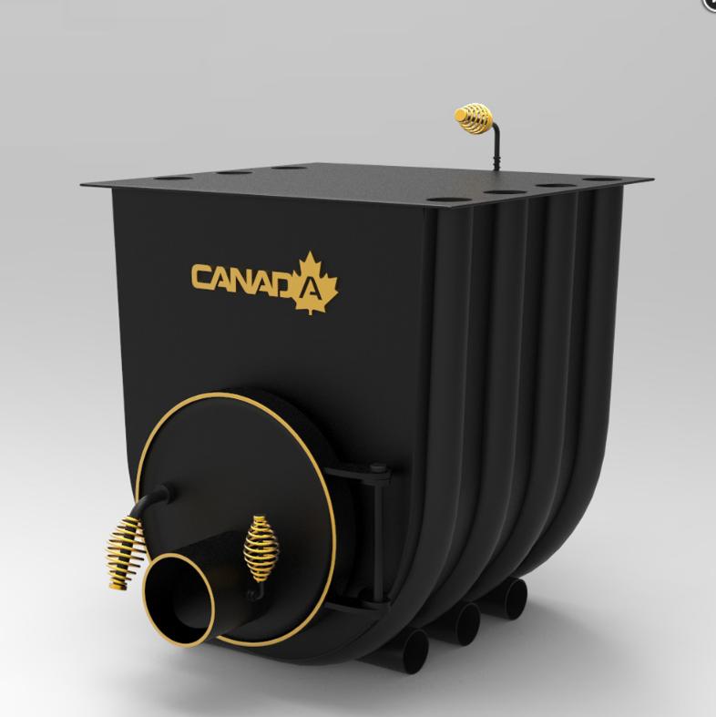 Печка на дърва без стъкло Canada 00 classic за огрев и готвене 7 kW - 130 м³