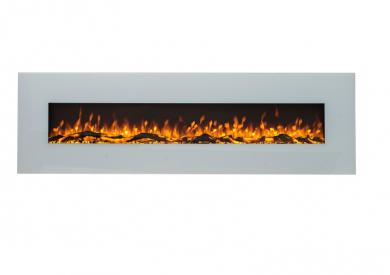 Стенна електрическа камина Masomi Madrid White 72 Inches 1600 W