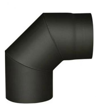 Черно димоотводно коляно 90° линия дърва