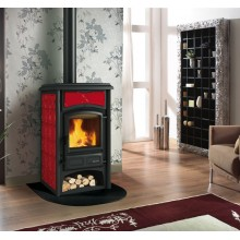 GISELLA - Wood burning stove with majolica covering made by La Nordica Italy