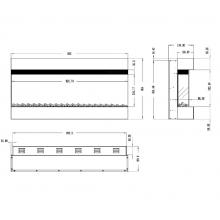 Стенна електрическа камина Masomi Alabama Black 36 inch 1600 W