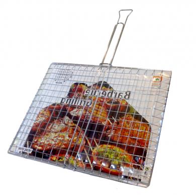 Двойна грил-скара за печене хром 44 х 36 см