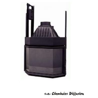 B9 френска чугунена камера на дърва за вграждане 15 kW