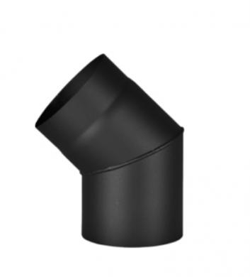 Черно димоотводно коляно 45° линия дърва