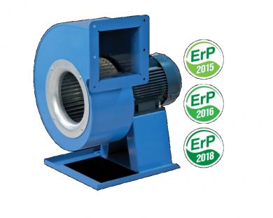 Трифазен двуполюсен центробежен вентилатор Vents серия VCUN с извит метален корпус тип