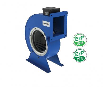 Монофазен двуполюсен центробежен вентилатор Vents серия VCU с извит метален корпус тип охлюв и капацитет до 640 м³