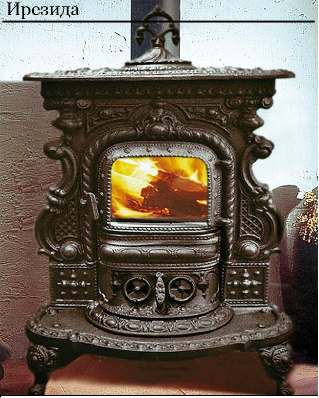 Българска чугунена печка на дърва за отопление
