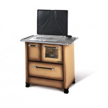 ROMANTICA 3,5 - Traditional wood burning cooker with glazed steel covering