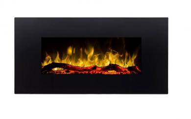 Ел. камина за стенен монтаж Masomi Madrid Black 36 Inches 1600 W