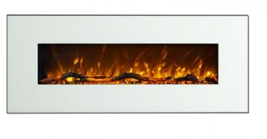 Електрическа камина за стена Masomi Madrid White 50 Inches 1600 W