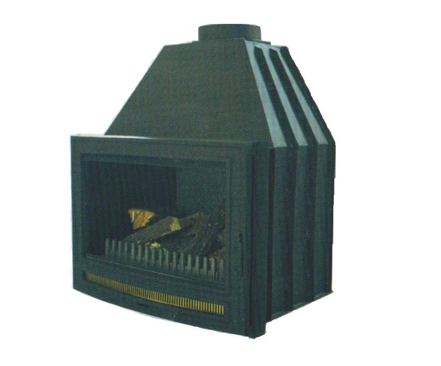 Българска горивна камера на дърва за вграждане с стоманен корпус и огнище от чугун