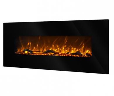 Стенна електрическа камина Masomi Madrid Black 50 inches 1600 W