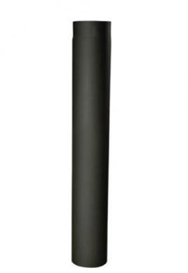 Италиански черни димоотводни тръби 100 см линия дърва