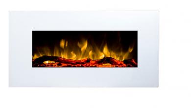 Стенно електрическо огнище Masomi Madrid White 36 inch 1600 W