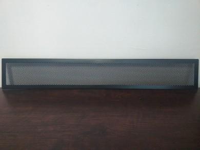 Декоративна решетка тесен кант черен мат