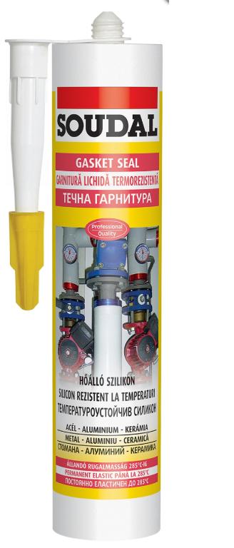Soudal Gasketseal висококачествен еластичен силикон за висока температура