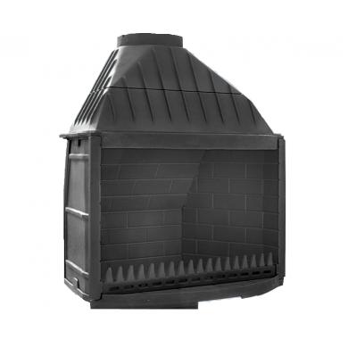 Отворено огнище от чугун за вграждане в облицовка или ниша Geka