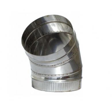 Димоотводно коляно 45° от неръждаема стомана /инокс/