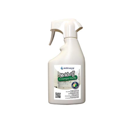 Mold Off от Bellinzoni е концентриран почистващ препарат за премахване на плесен, мухъл, водорасли, мускус и други  1 литър
