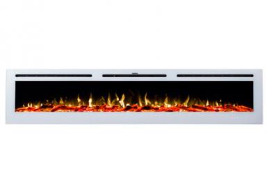 Стенна електрическа камина Masomi Adeli White 100 inch 1600 W