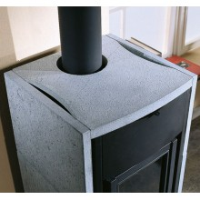 ASIA - Wood burning stove with natural stone covering made by La Nordica Italy
